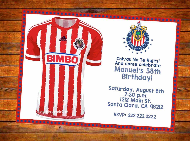 Chivas de Guadalajara Personalized Invitation - Digital Download ...