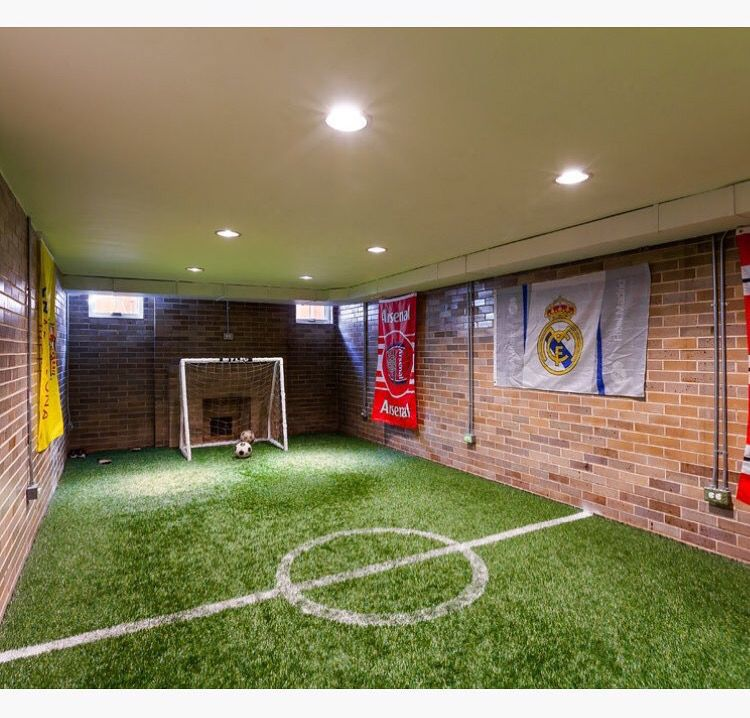 Mini football field indoors (With images) Soccer room