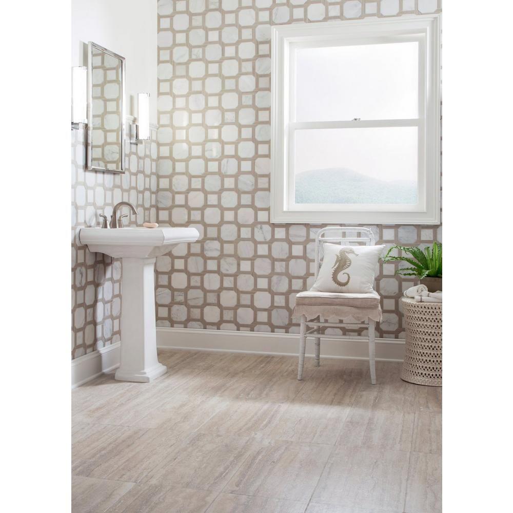Travertini Argento Porcelain Tile Floor Decor Marble Mosaic Floor Decor Porcelain Tile