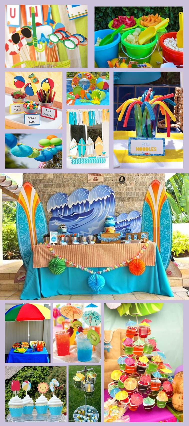 Inspiraci n para candy bar pool party inspiraci n desde - Ideas para cumpleanos en piscina ...