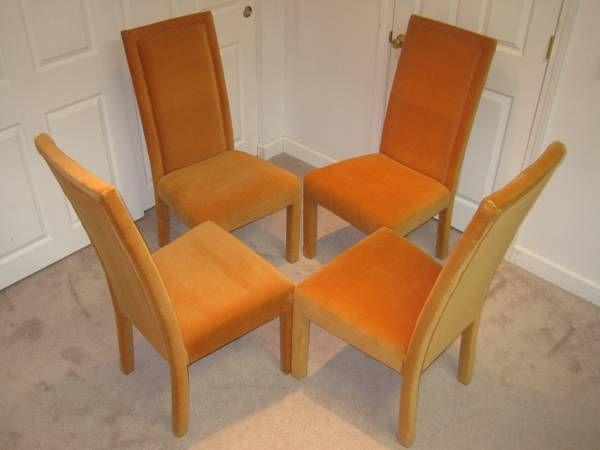 Set Of Four Orange Parsons Chairs On Dayton Craigslist, Posted 5/25/13