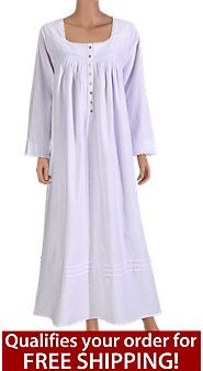Eileen West Fairytale Flannel Nightgown  cee24fff2