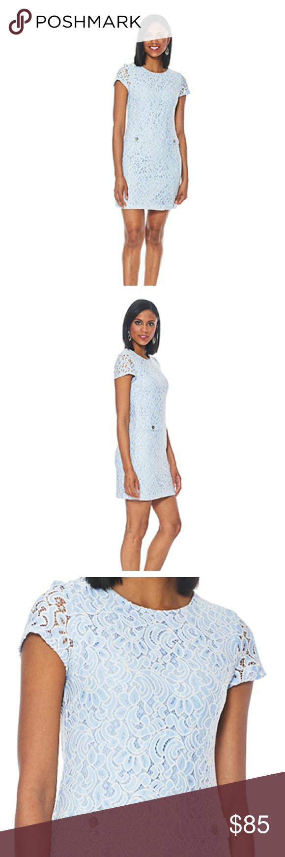 e3a556f32d Tommy Hilfiger Womens Floral Outline Lace Shirt Dress   Toffee Art