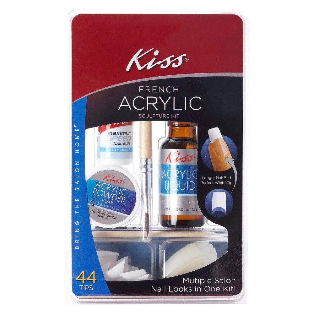 Kiss Bring The Salon Home French Acrylic Nail Kit Natural Acrylic Nail Kit Bright Summer Acrylic Nails Nail Kit