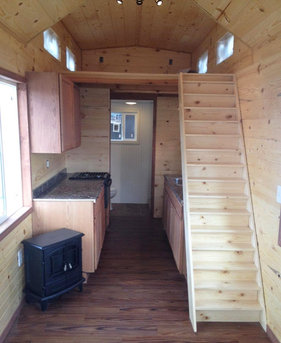 Tiny House Stairs tiny house on wheels with dual cantilevered end for added room built by mouse house Idaho Tiny House Tiny House Swoon By Amie