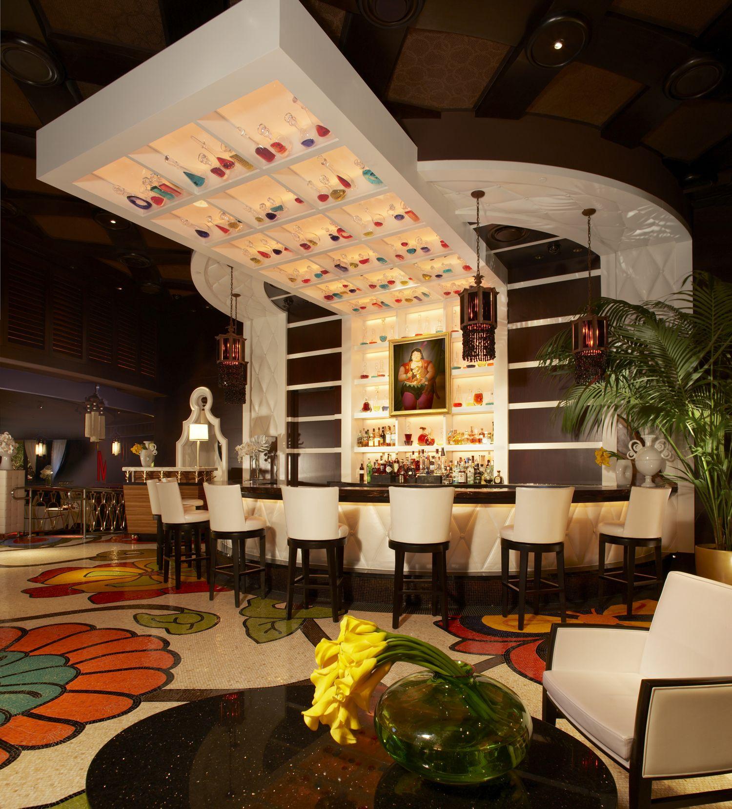 The bar at botero steakhouse encore casino resort las vegas nevada cool2me restaurant for Interior decorator las vegas nv