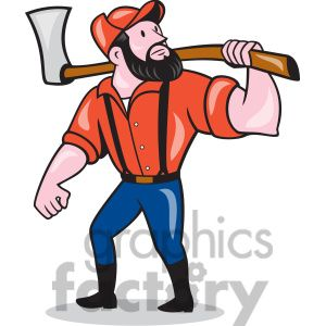 paul bunyan axe looking side cartoon clip art pinterest paul rh pinterest com