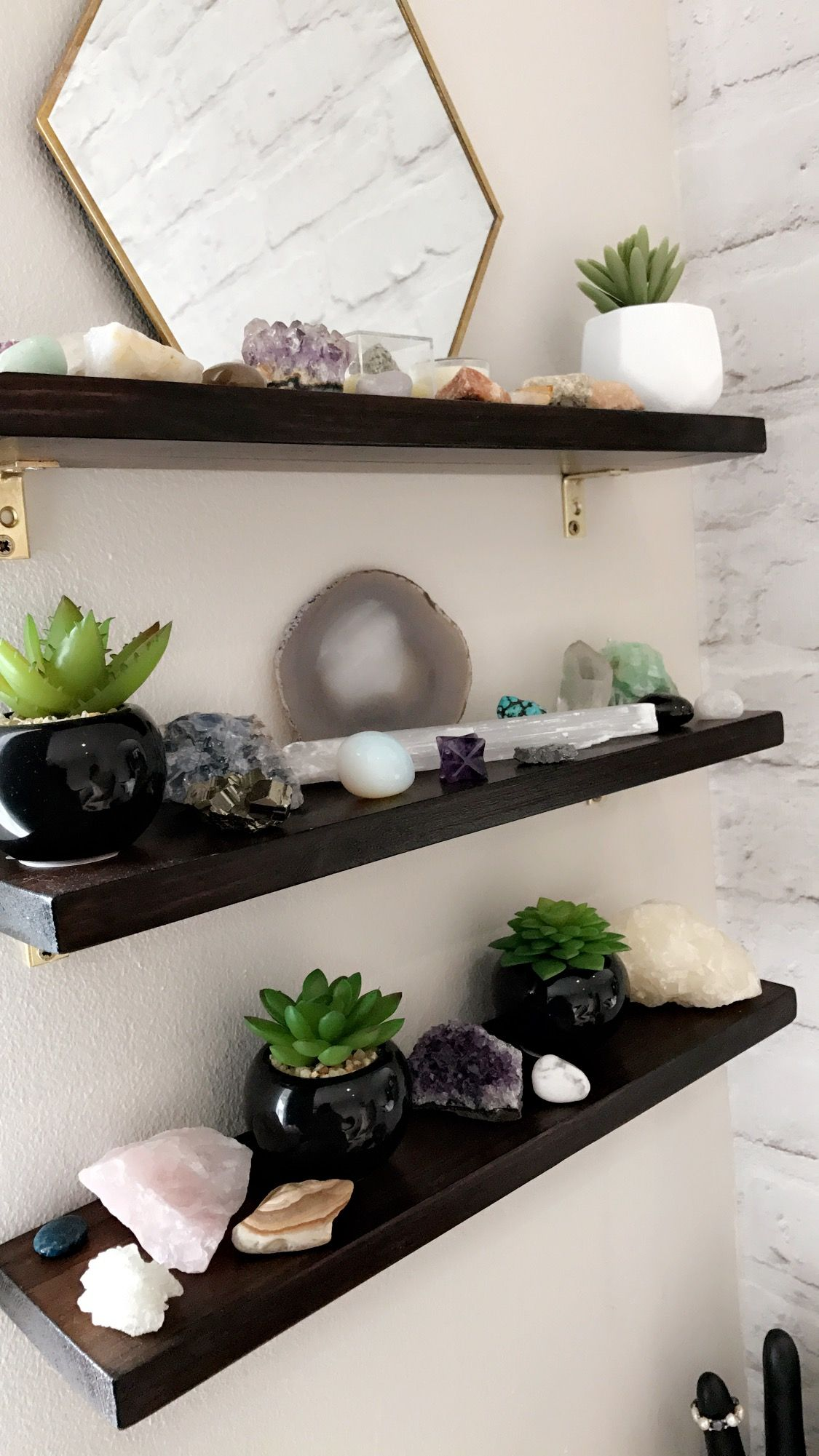 Diy Shelve Made For My Crystal Collection Home Decor Inspiration Floating Shelves Diy Crystal Decor