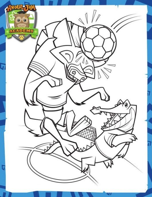 animal jam academy coloring sheet printable | Animal Jam coloring ...