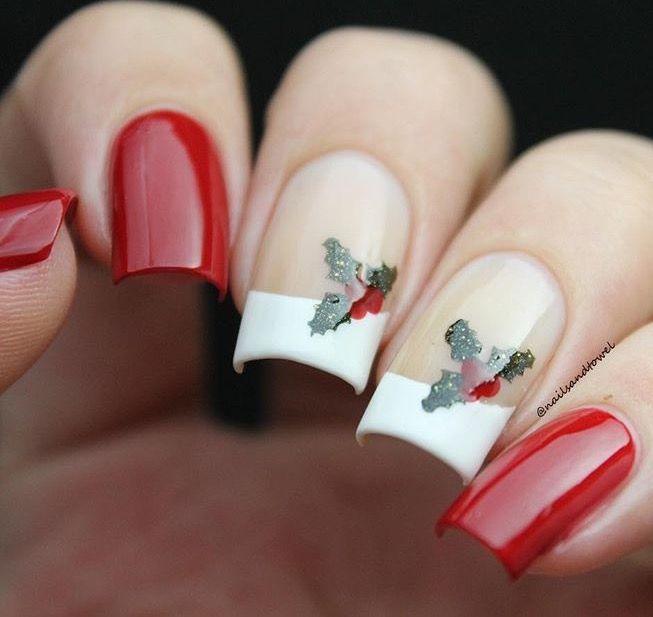 Christmas Diy Nail Ideas And More Of Our Manicures From: Stunning Holiday Manicure By @nailsandtowel Using Our