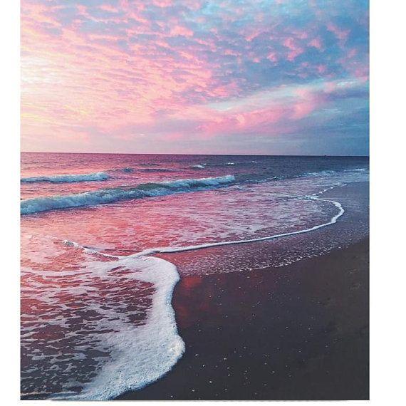 Pastel Beach Wall Art Tropical Print Ocean View Beach Canvas Art