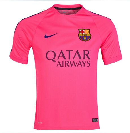 Barcelona Jersey 2014/15 Pink Training Soccer Jersey Shirt | What ...