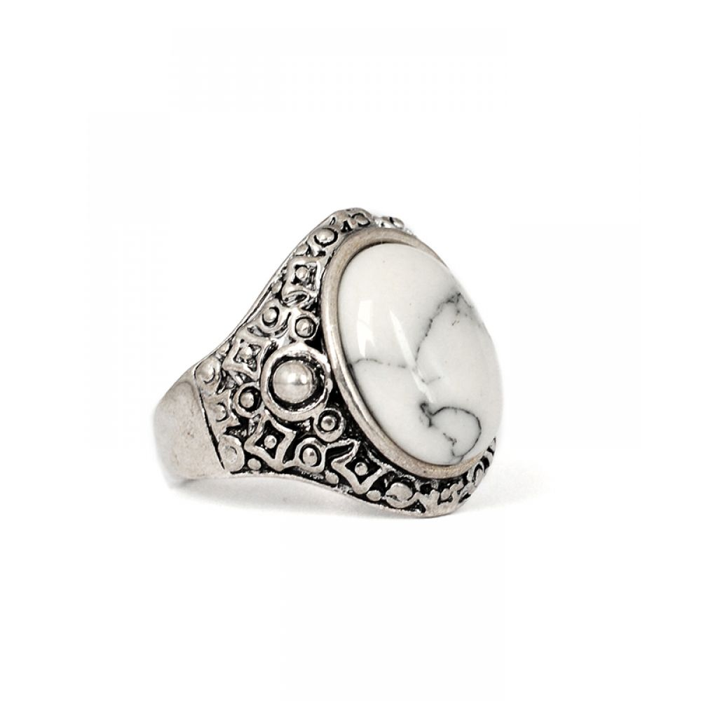 Old Silver Rings | Tibetan White Stone Antique Silver Ring | Rings ...