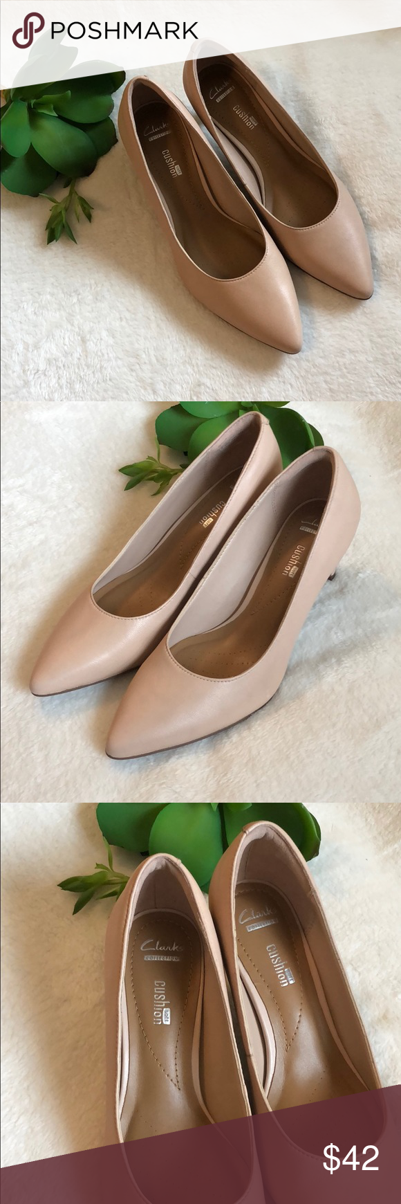 220a2d9c8d5 NWT Clark s Crewso Wick Nude Pink Pumps Size 6 NWT Clark s Crewso Wick Nude  Pink Pumps