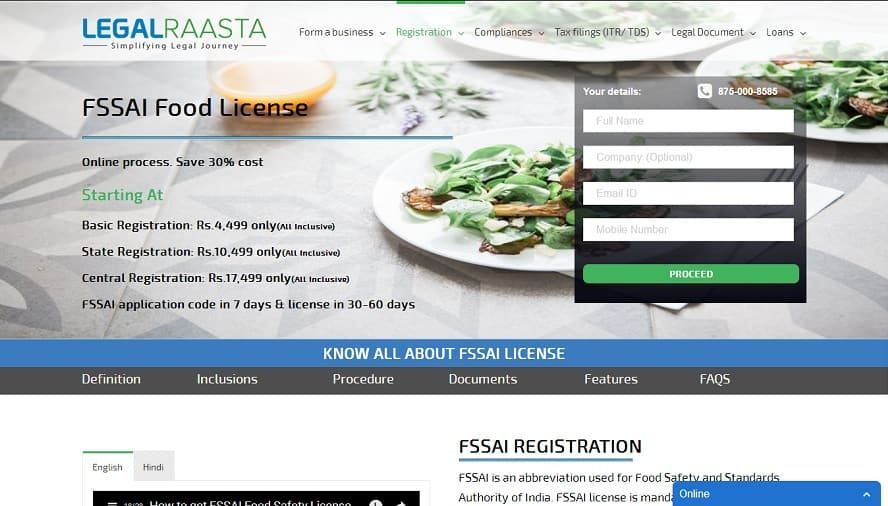 How To Apply For Fssai Certificate Online In India Registration