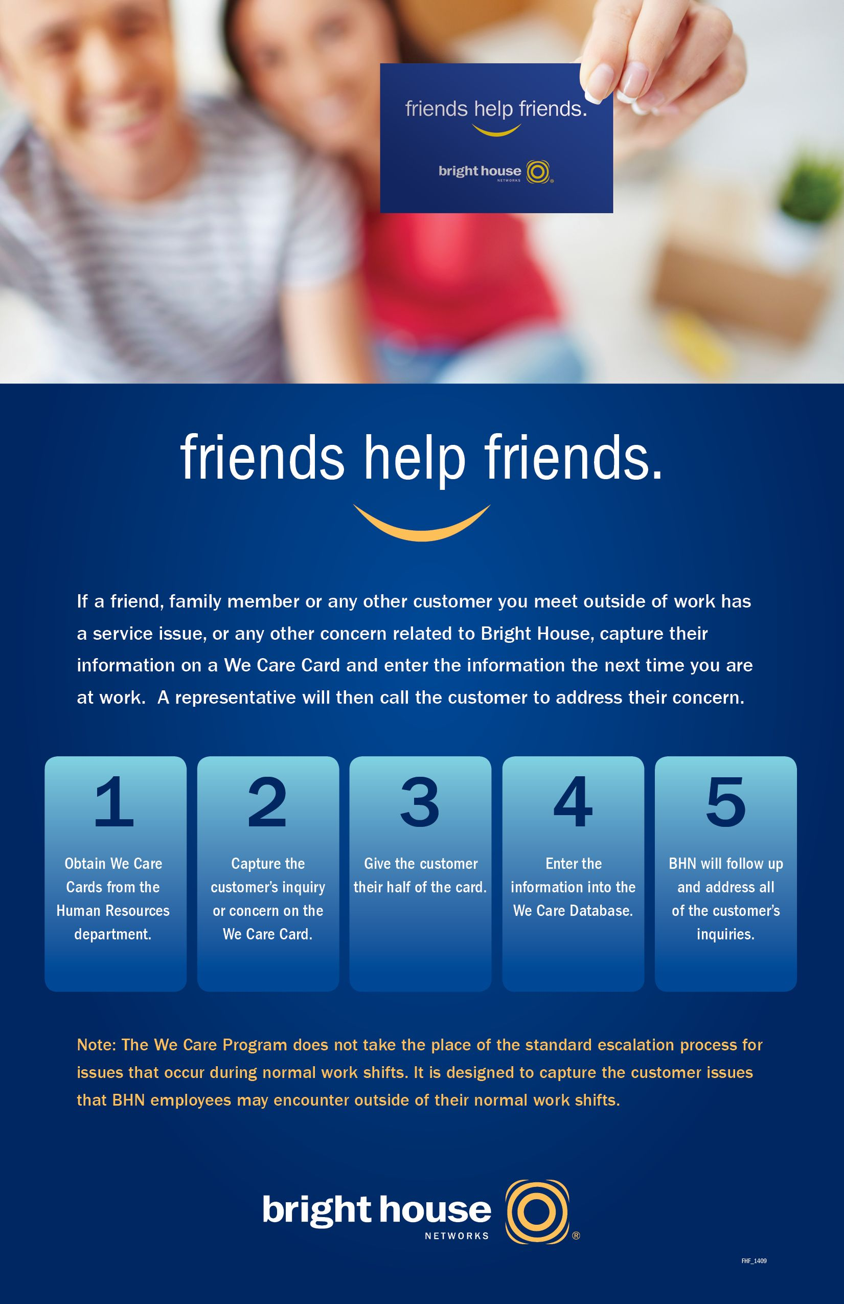 Bright House Networks Friends Helping Friends In House Poster Design Studio Design Home Network