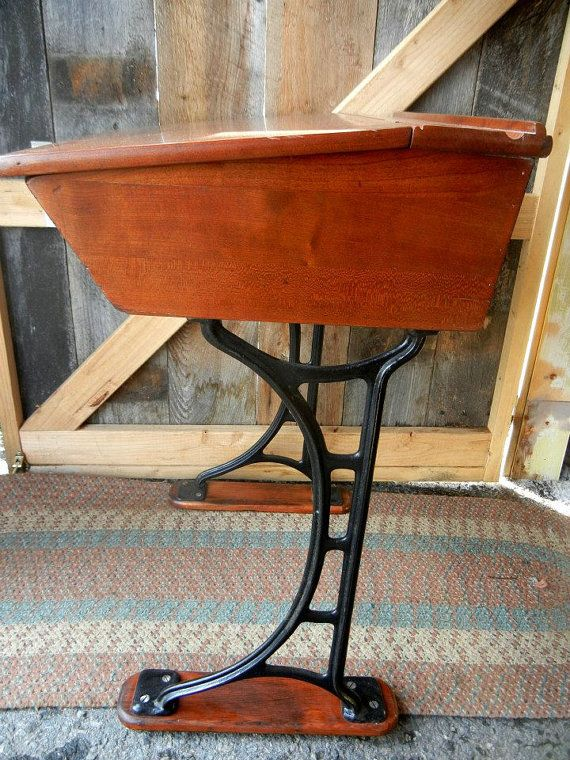 Prime Reserve For Tristan 1940S Inkwell School Desk Cast Iron Download Free Architecture Designs Xoliawazosbritishbridgeorg