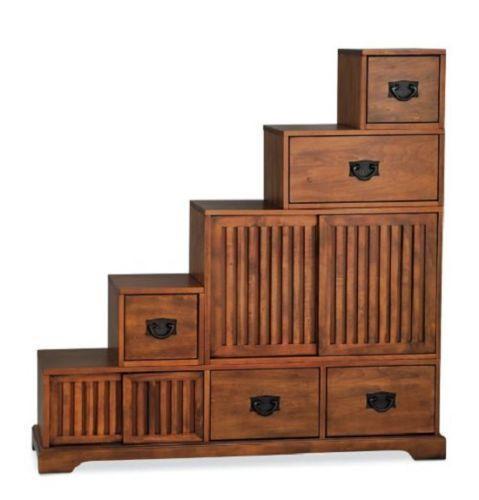 Stair Step Storage reversible staircase wall stair step storage organizer chest