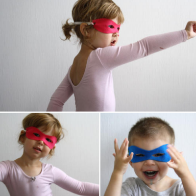 no sew masks :) The girls totally need this since they think Spiderman and Superman save the Princesses.