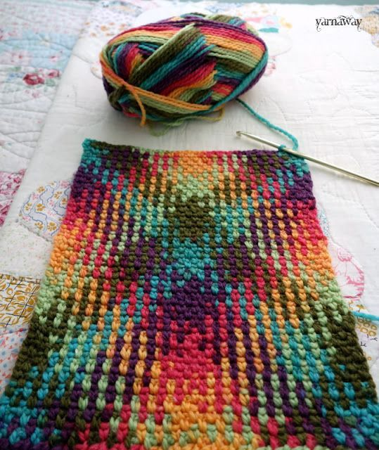 crochet color pooling with yarnaway   blankets etc   Pinterest ...