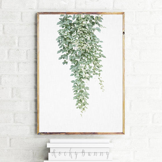 Printable Vine Poster Green Botanical Wall Art Print