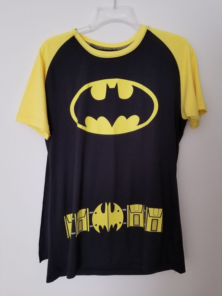 f4acc287 BATGIRL BATMAN COSTUME T SHIRT with CAPE plus GLOVES! DC Comics (Juniors  XXL) #Halloween #CostumesforWomen #CoolCostumes