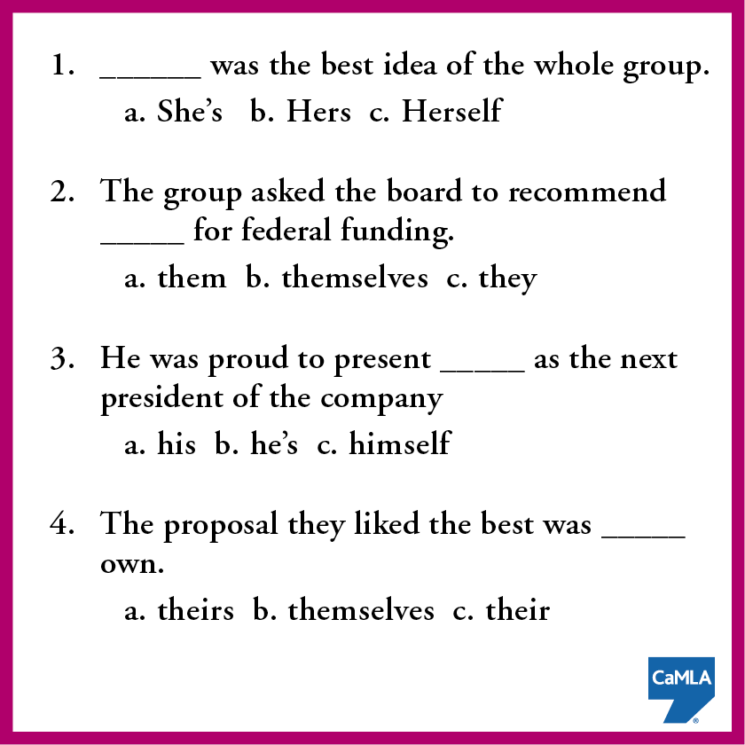 So many pronouns, so little time. See if you can figure out which pronouns best fit each blank below. See the answers here: https://www.pinterest.com/pin/450500768952465210/