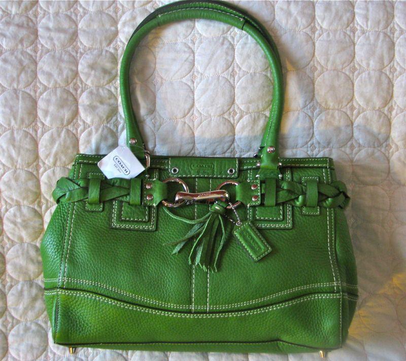 Coach purse, kelly green
