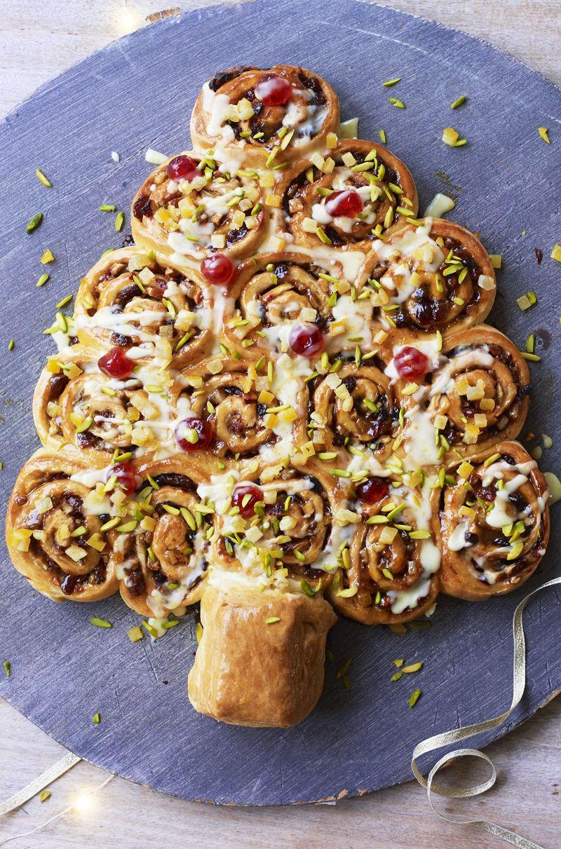Tear and share Christmas Chelsea buns #tearandsharebread