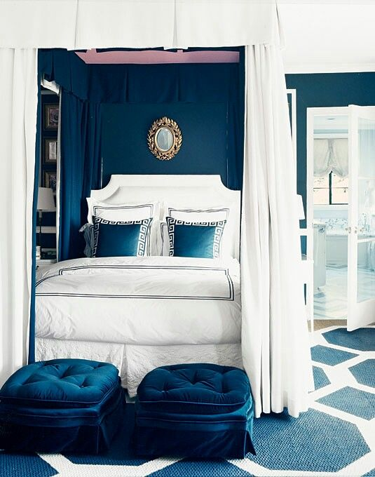 Blue And White Bedroom Design Endearing 20 Marvelous Navy Blue Bedroom Ideas  House Beautiful Bedrooms 2018