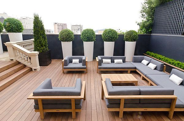 Photo of 18 modern patio designs- patio designs couch gray table wood plant idea – …