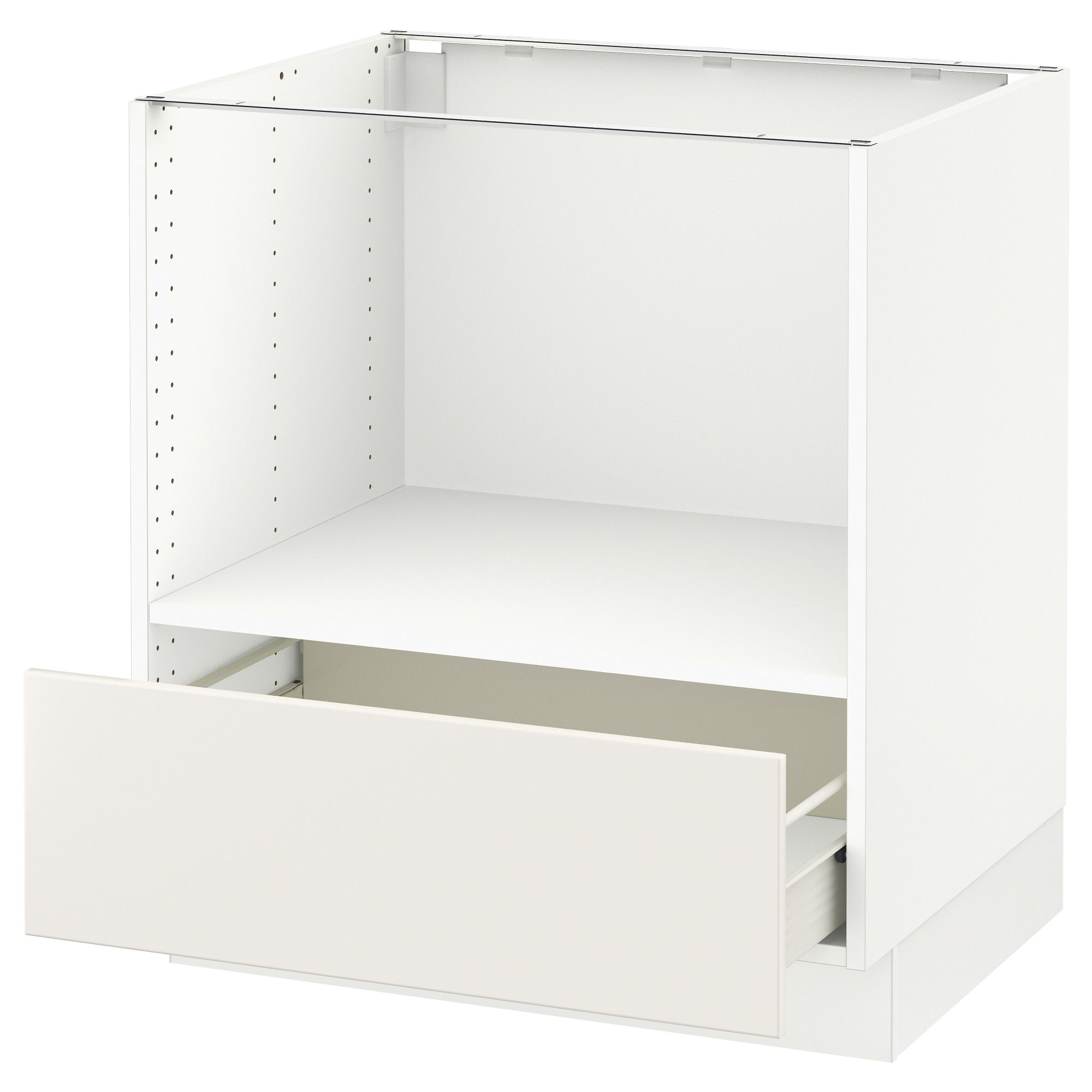 SEKTION Base for microwave+1 drawer white