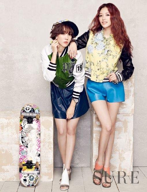 Rainbow's Jae Kyung and Woori go colorful for SURE magazine ~ Latest K-pop News - K-pop News | Daily K Pop News