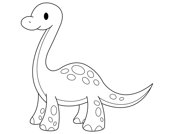 Printable Baby Brontosaurus Coloring Page Coloring Pages Baby Coloring Pages Printable Coloring Pages