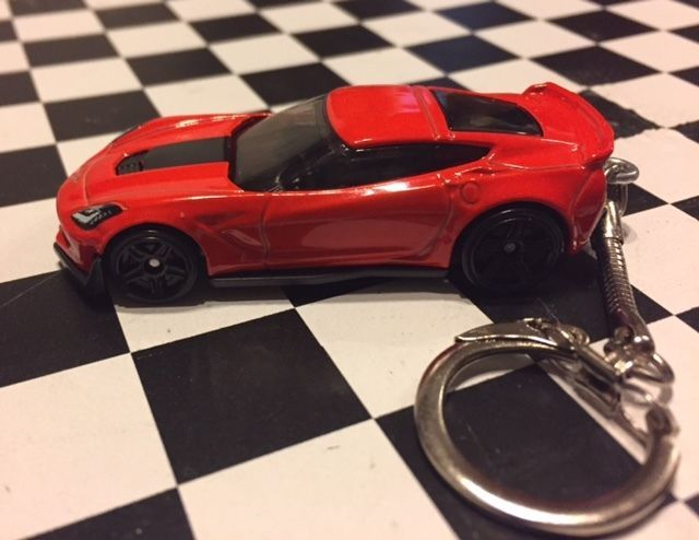 2016 Chevy Corvette C7 Z06 Car Keychain Die Cast Hot Wheels 1 64 Ebay Chevy Corvette Car Keychain Corvette C7
