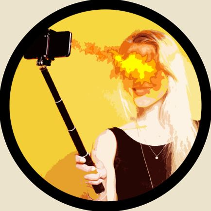 selfie fire burn