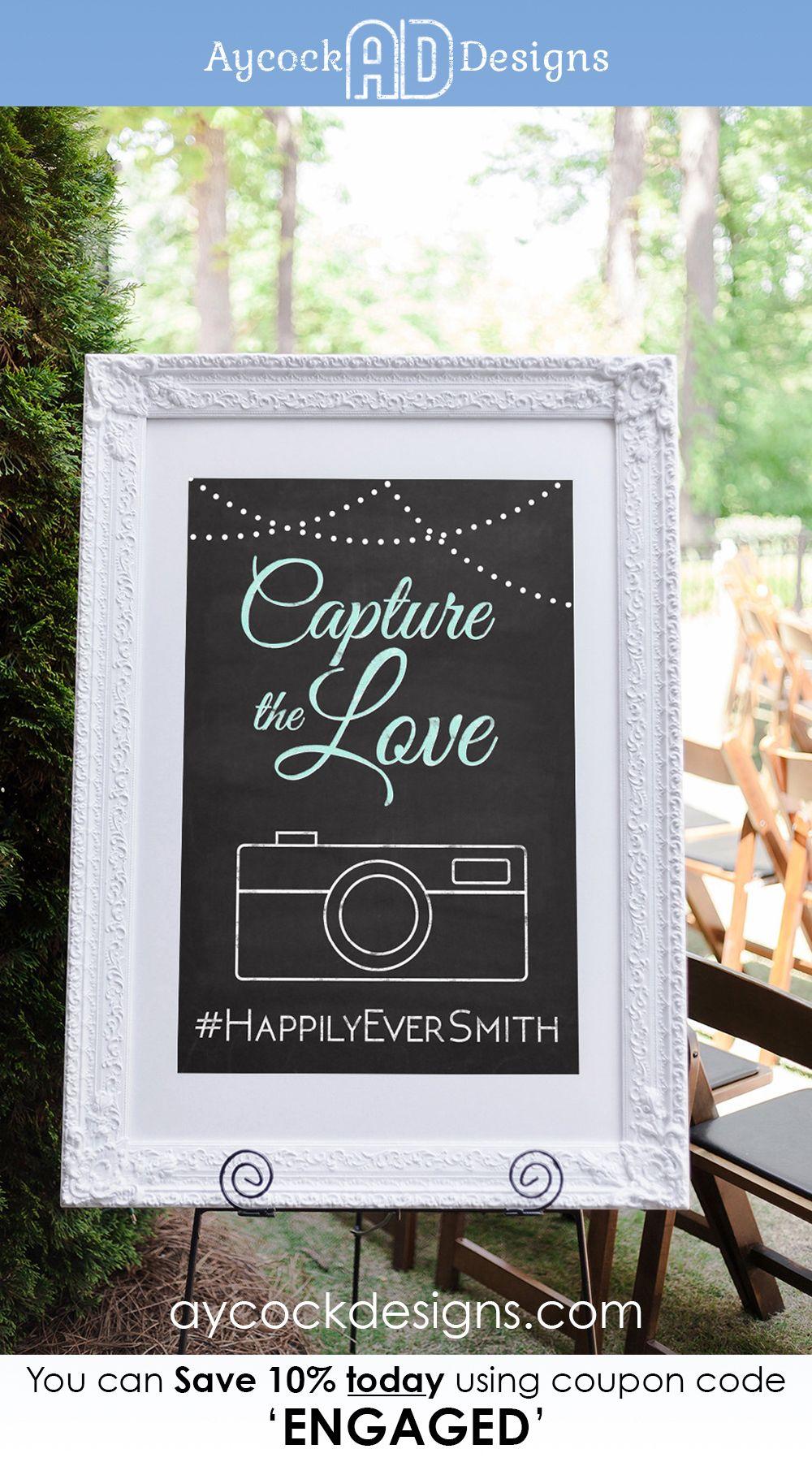 Hashtag Wedding Sign Printable Wedding Hashtag