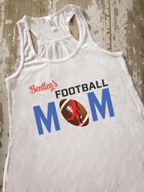 a66f7c73 Personalized Football Mom Flowy Tank Personalized Basketball, Basketball  Mom, Soccer, Heather White,