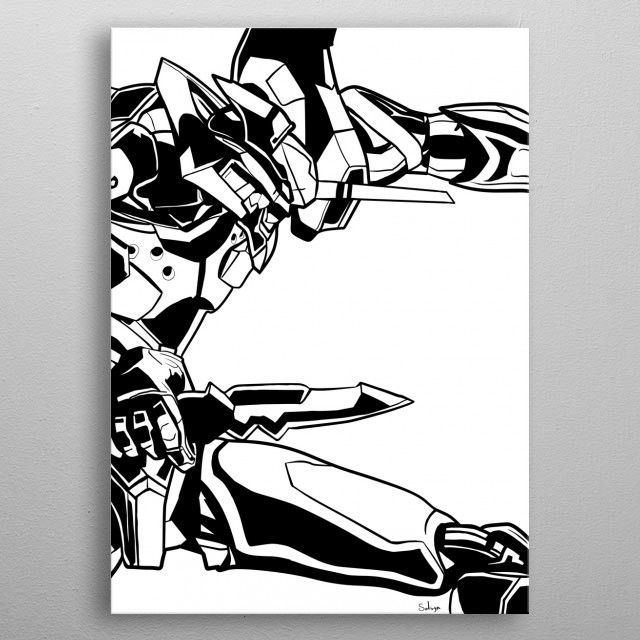 Evangelion ready to fight! by Alexander Nüsgen | metal posters - Displate | Displate thumbnail