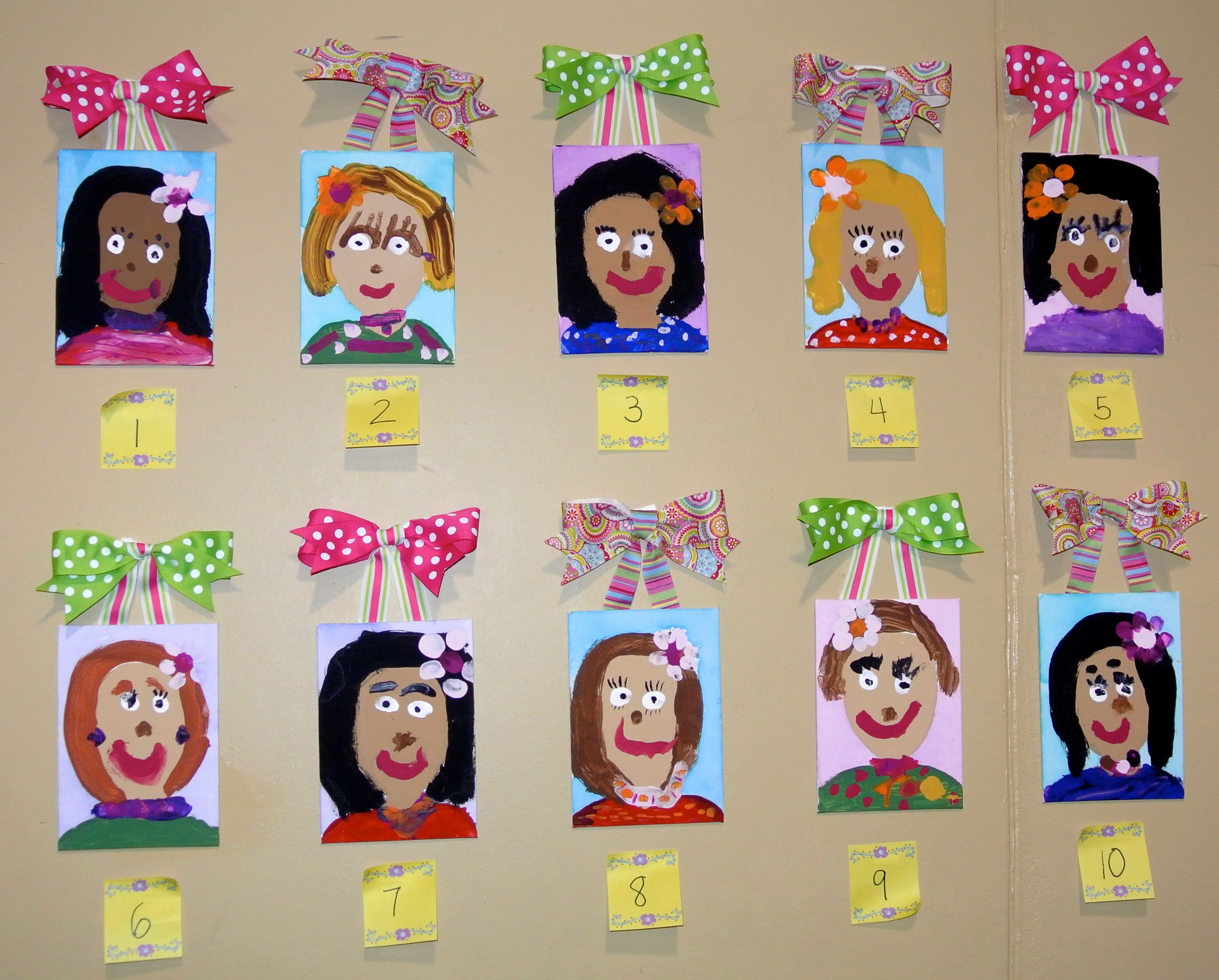 Mother S Day Portraits The Moms Guess Who Created Each Portrait Littlehandsbigplans