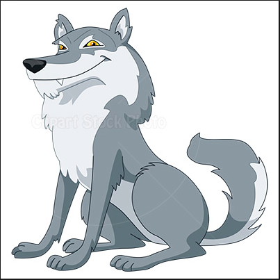 Loyal And Fearless Wolf This Wolf Would Make A Great Pet Because Of His Loyalty To People He Would Guard Things With Excell Cartoon Wolf Wolf Clipart Cartoon