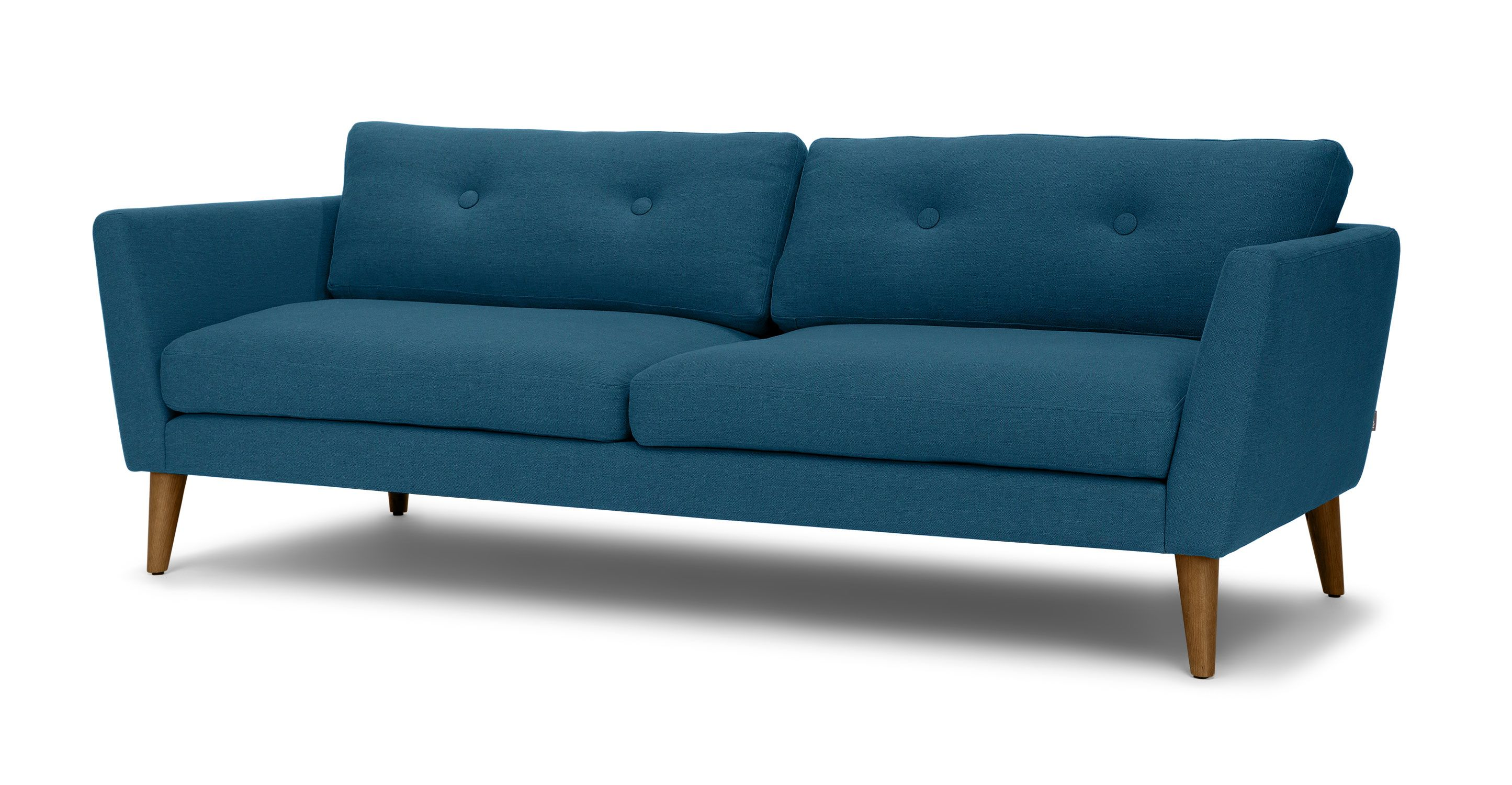 Emil Marine Blue Sofa Sofas Article Modern, Mid