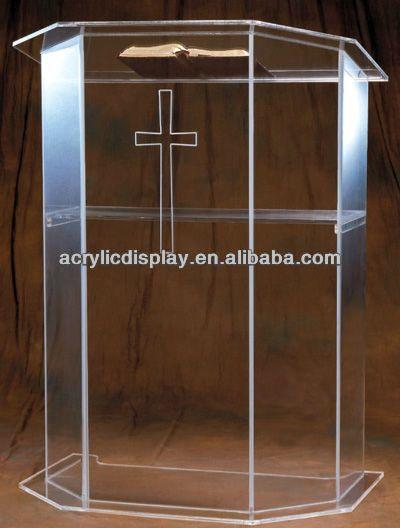 Top quality plexiglass church pulpit 50100  Church