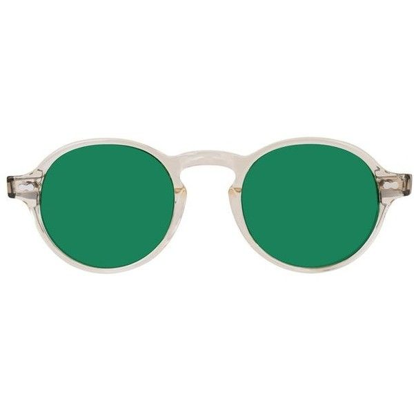 GLICK FLESH TORT GREEN (€100) ❤ liked on Polyvore featuring accessories,  eyewear, sunglasses, tortoise glasses, dot glasses, tortoise shell  sunglasses, ... 6dd6be07f9