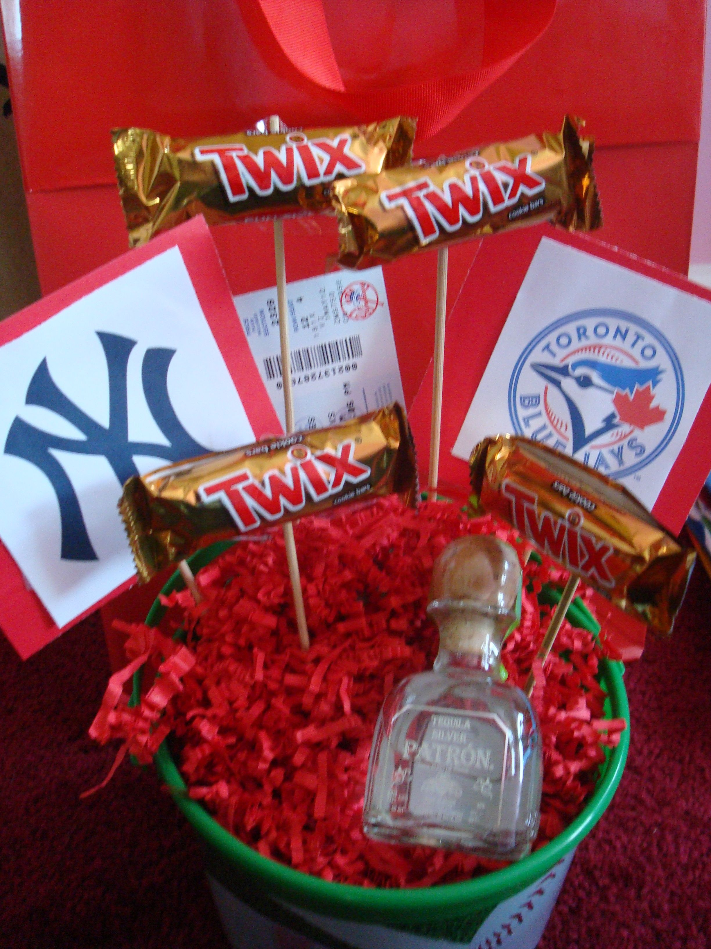 baseball gift basket complete with tickets! great gift for a ...
