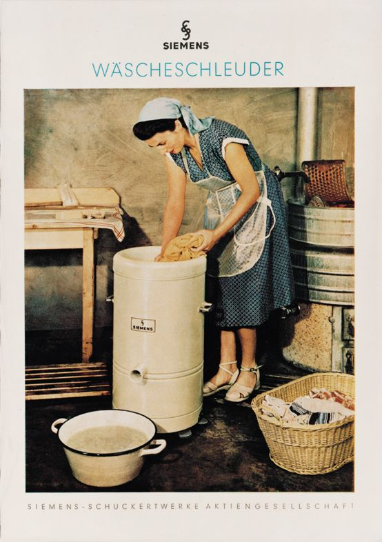 #Siemens spin #dryer #advertisement from 1950. // Siemens #Waescheschleuder #Werbeanzeige von 1950. #Waesche #laundry #Waschtag #historie #history #enjoysiemens