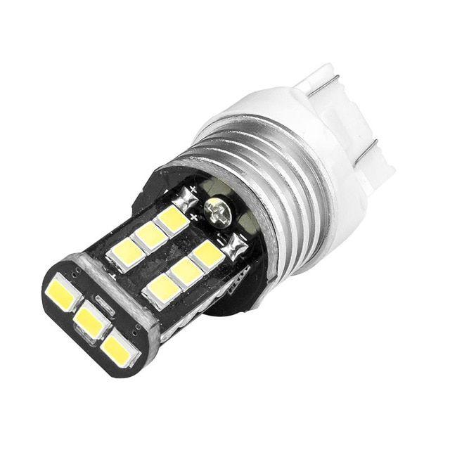Car Lights 1pcs White Led Daytime Running Tail And Backup Light Lamp Bulb 12v T20/ 7440
