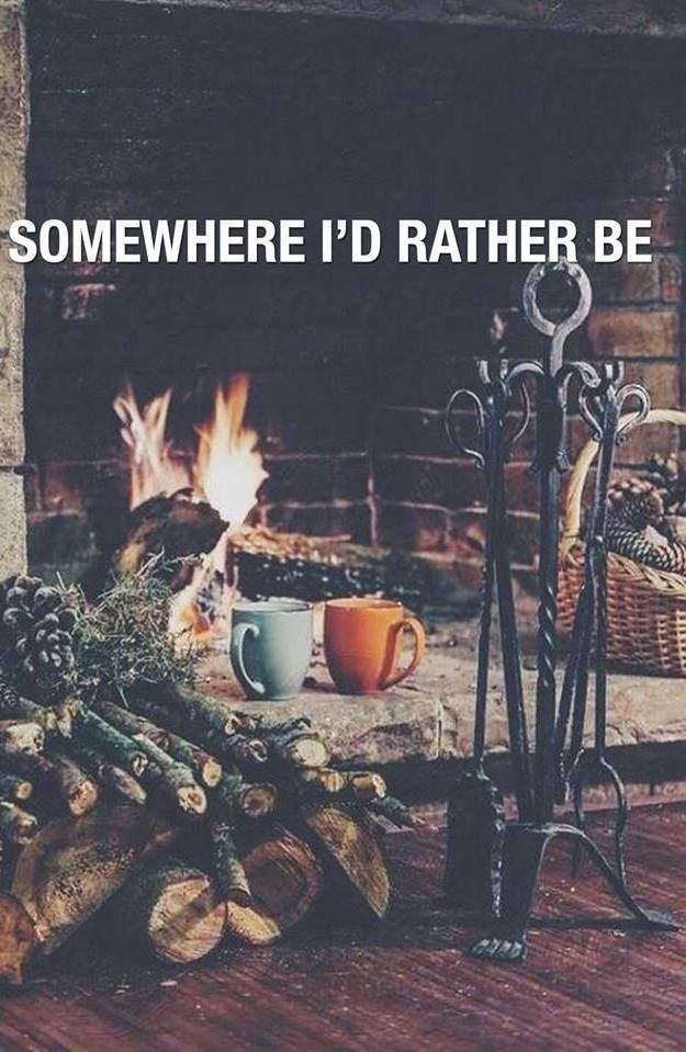 Much rather be cozied up by the fire in a little lakeside cabin.