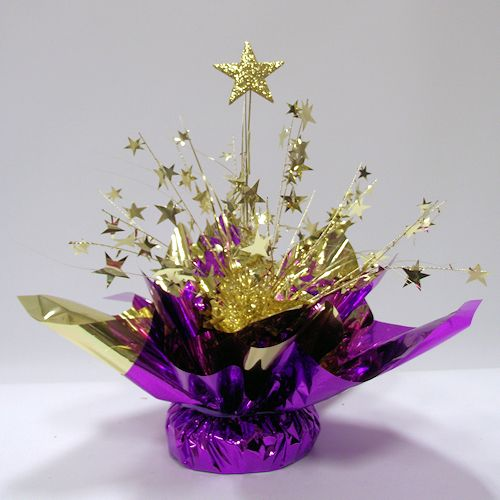 Starburst centerpiece diy prom centerpieces table