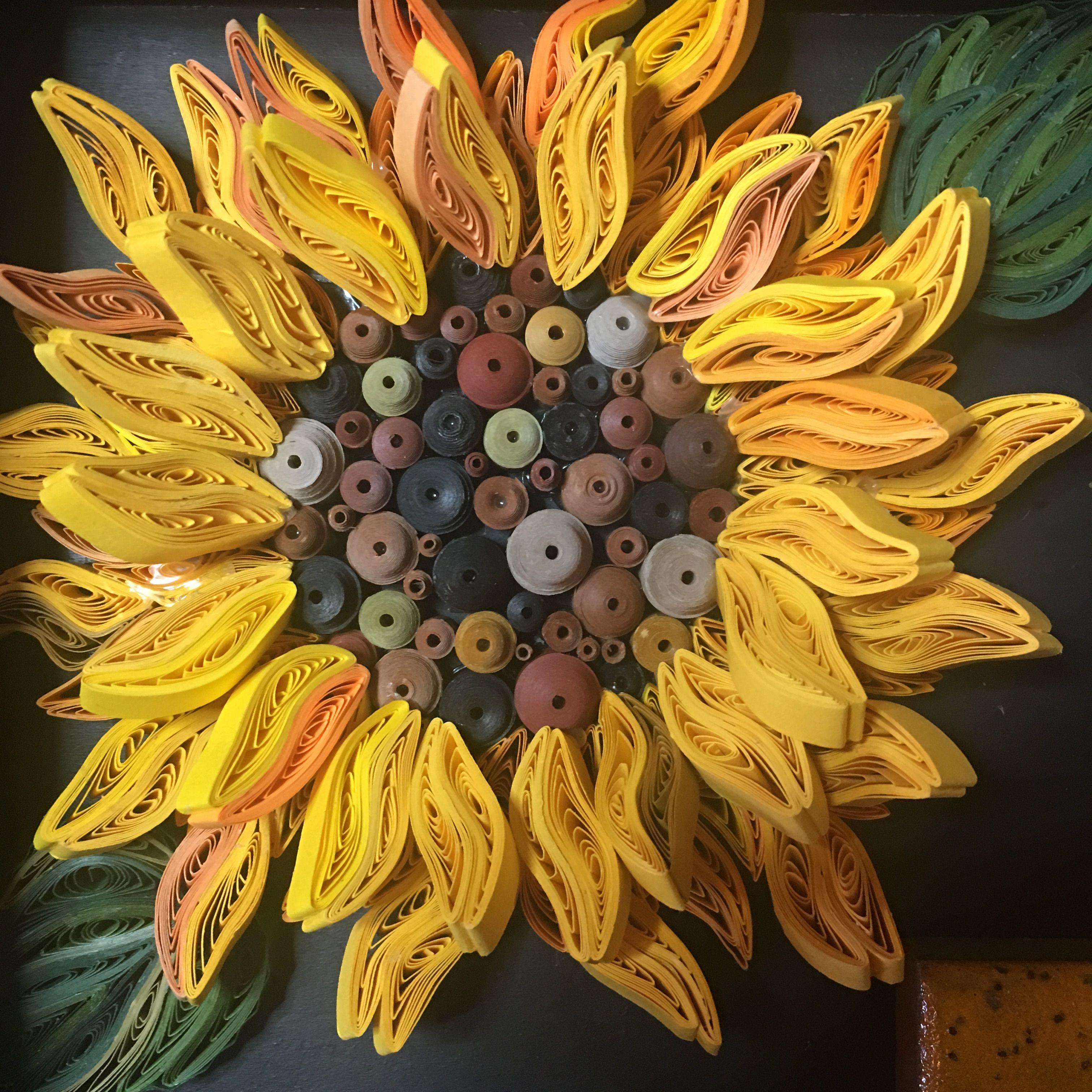 Paper Quilled Sunflower By Lauren Byrne @PickerElite | Paper works ...